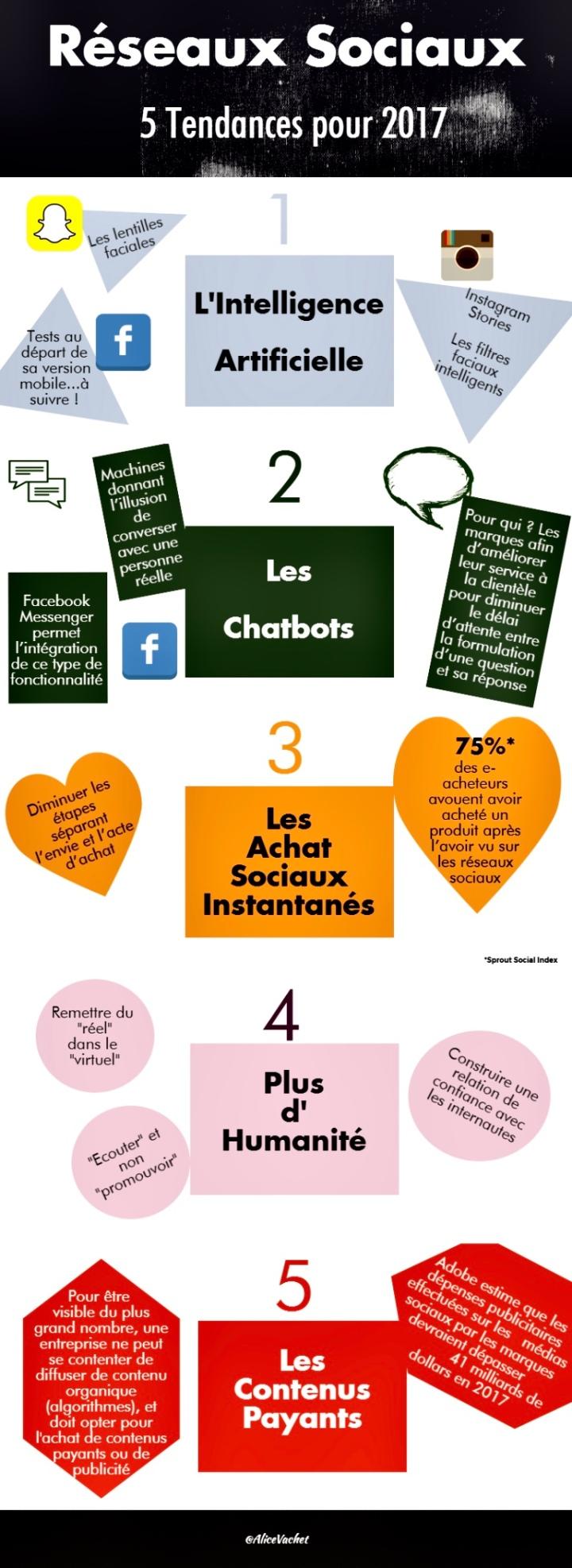 [Infographie] 5 tendances des réseaux sociaux en 2017📊
