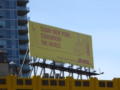 DHL today new york billboard