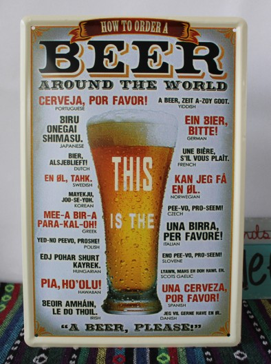 How-To-Order-Beer-Retro-Pub-Bar-Wall-Poster-Tavern-Beer-Around-the-World-Tin-Sign