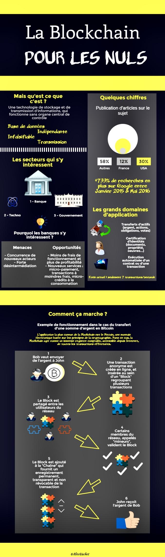 [Infographie] La Blockchain pour les Nuls☝🏻