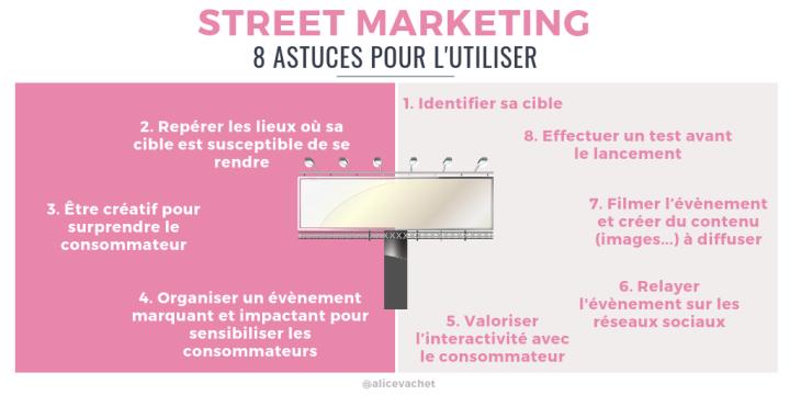 [Infographie] Street Marketing : 8 Astuces pour l'Utiliser